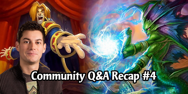 Dean Ayala's Community Q&A #4 - Classic Set Rework Teaser, Craftable Heroes, Possible March Expansion, 2v2, Rewards Track