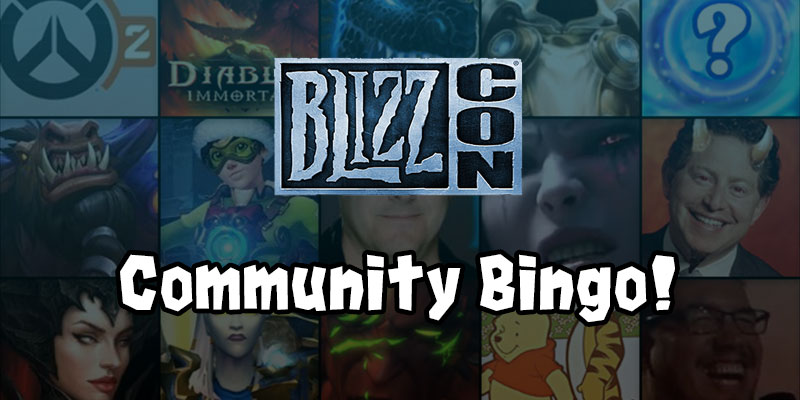 BlizzCon 2019 Community Bingo