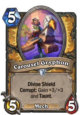 Carousel Gryphon Card Image