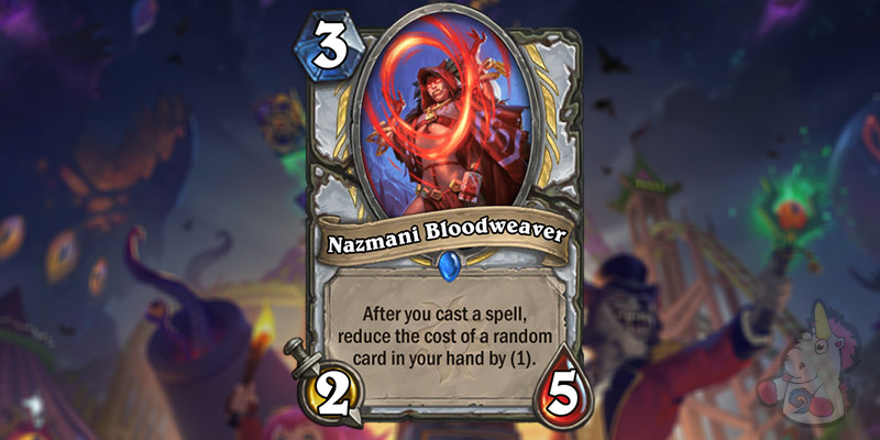 Nazmani Bloodweaver is a New Priest Card Revealed for Hearthstone's Darkmoon Faire Expansion