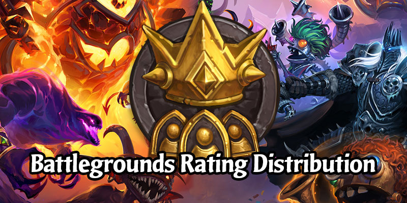 Blizzard Shares the Hearthstone Battlegrounds Rating Distribution Data from Active Battlegrounds Players
