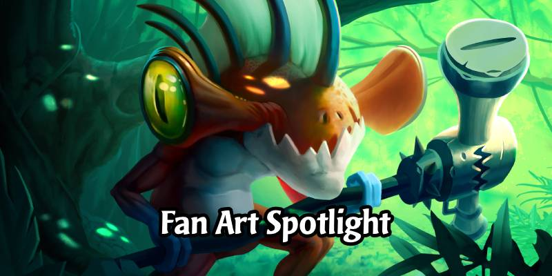 In the Frame: Hearthstone Fan Art Spotlight - Hammerloc by Guillaume Beauchêne
