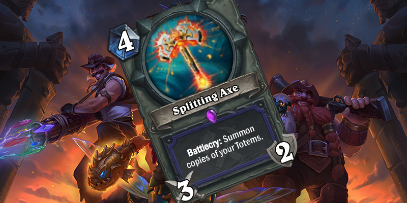 Uldum Shaman Card Reveal - Splitting Axe