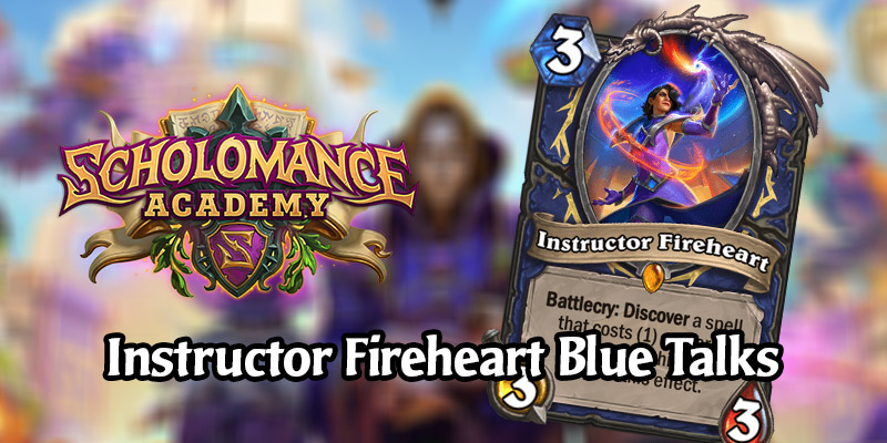 Hearthstone's Chadd Nervig & Alec Dawson Talk About Instructor Fireheart Design & Value Generation in Hearthstone