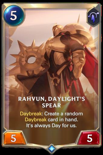 Rahvun, Daylight's Spear Card Image