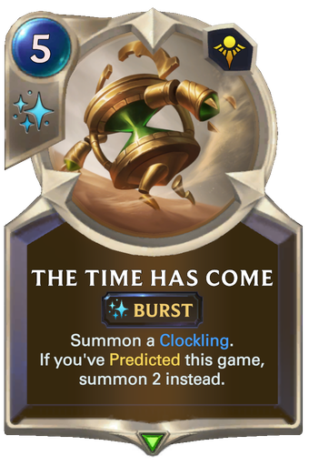 The Time Has Come Card Image