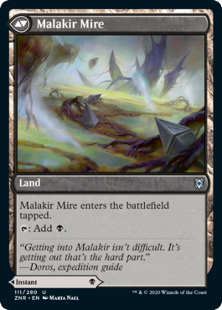 Malakir Rebirth // Malakir Mire Card Image