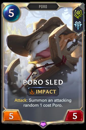 Poro Sled Card Image