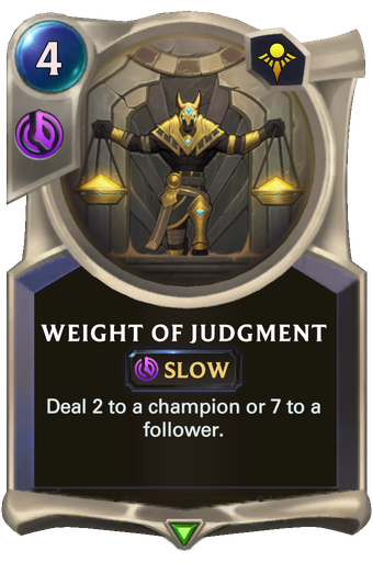 Weight of Judgment Card Image