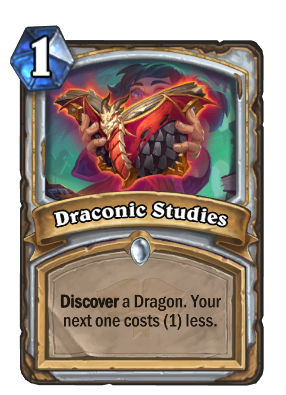 Draconic Studies Card Image