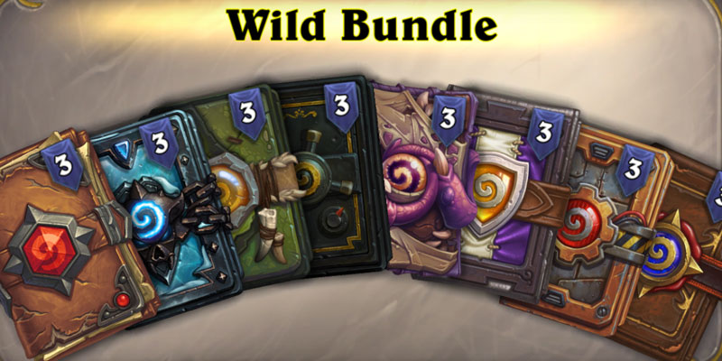A New Bundle is Available in the Hearthstone Shop - The Wild Bundle Contains 24 Card Packs for $15