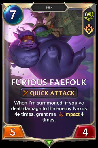 Furious Faefolk Card Image