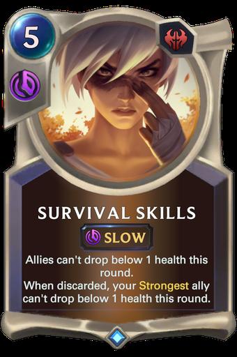 Survival Skills Card Image
