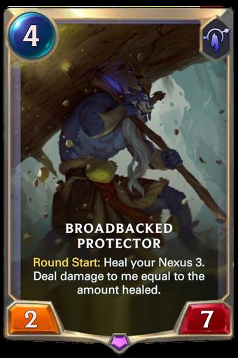 Broadbacked Protector Card Image
