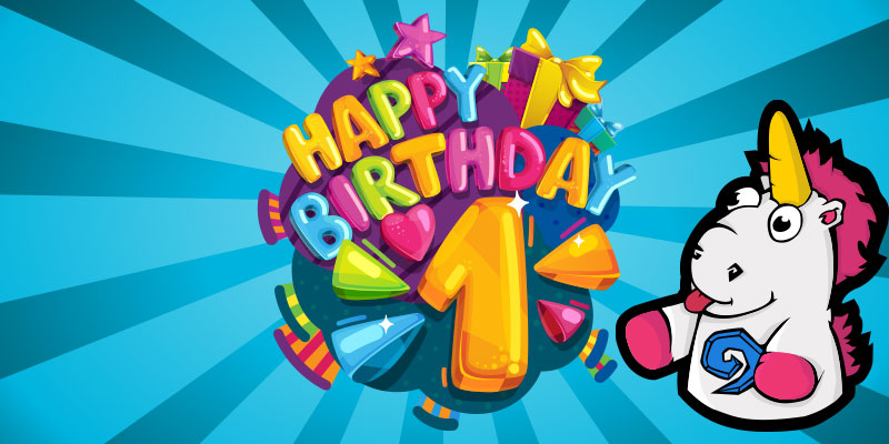 Happy First Birthday Out of Cards - The Celebration Begins Next Week!