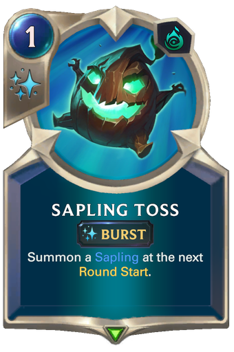 Sapling Toss Card Image