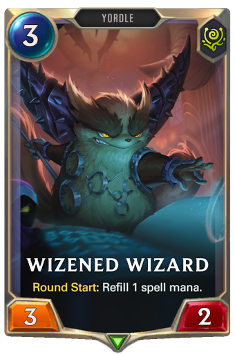 Wizened Wizard Card Image
