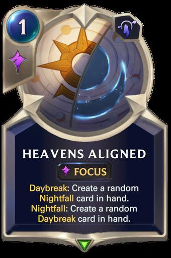 Heavens Aligned Card Image