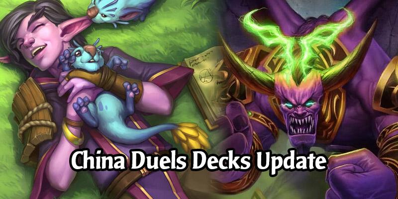 Hot Decks for Hearthstone's Duels Mode From China - March 2021