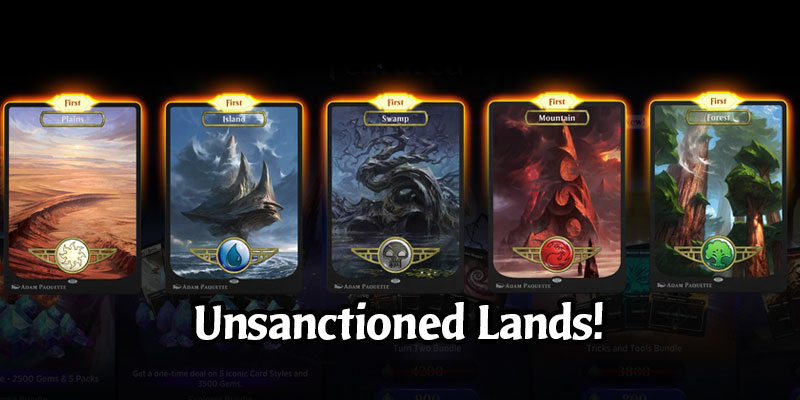 Magic's Unsanctioned Full Art Lands Come to Arena in the March 12 Update