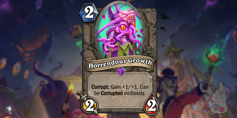 Horrendous Growth is a New Card Revealed for Hearthstone's Darkmoon Faire Expansion