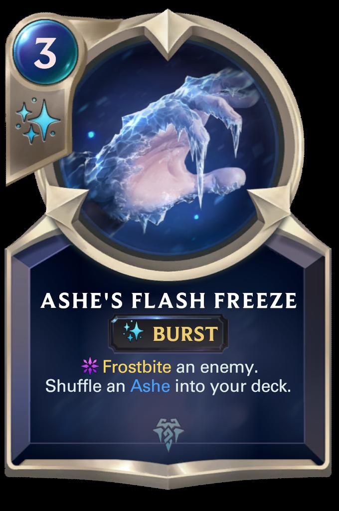 Ashe's Flash Freeze Card Image