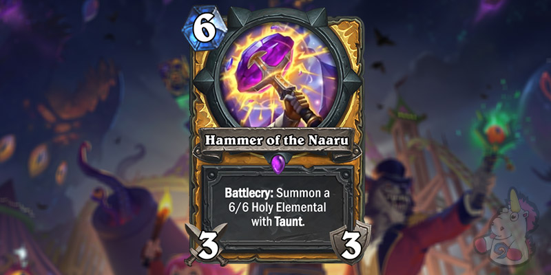 Hammer of the Naaru is a New Paladin Card Revealed for Hearthstone's Darkmoon Faire Expansion