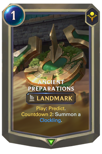 Ancient Preparations Card Image