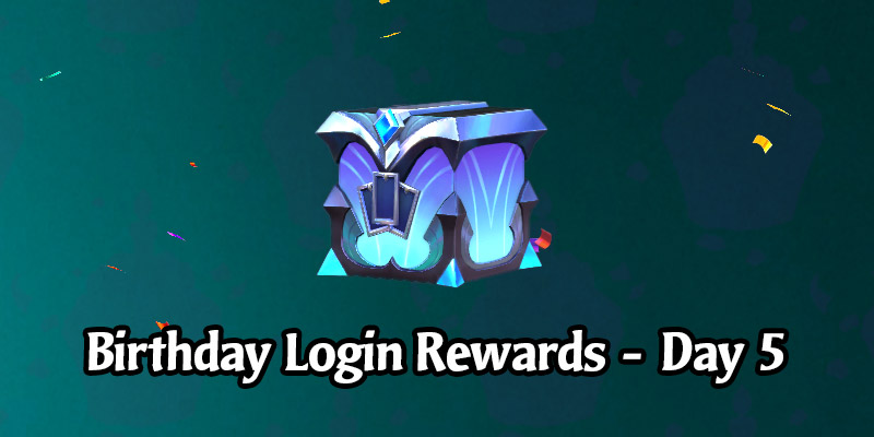 Today's Legends of Runeterra Anniversary Celebration Login Gift is a Rare Prismatic Chest