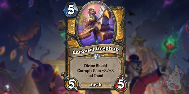 Carousel Gryphon is a New Paladin Card Revealed for Hearthstone's Darkmoon Faire Expansion