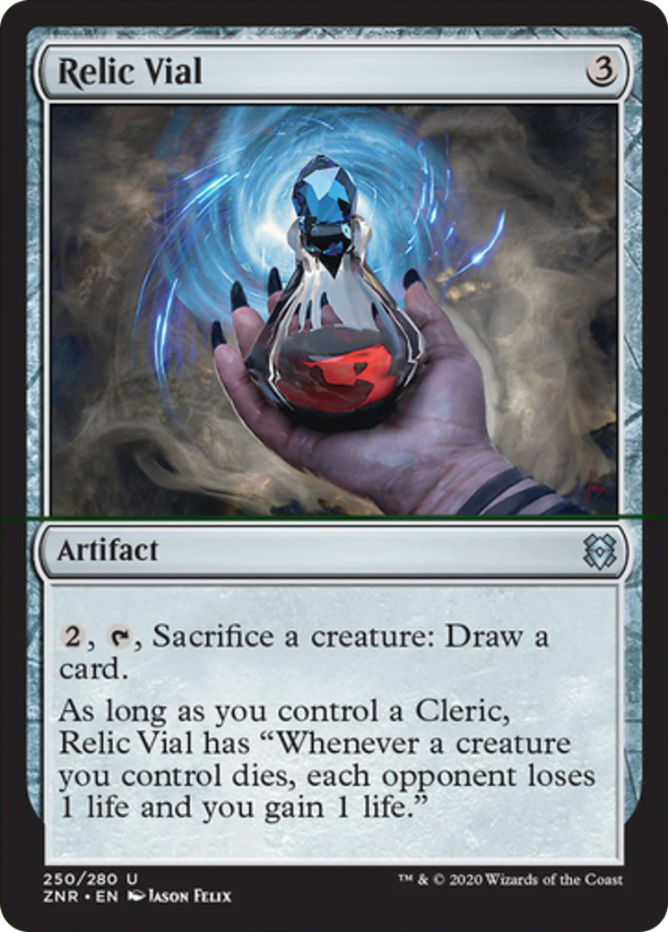 Relic Vial Card Image