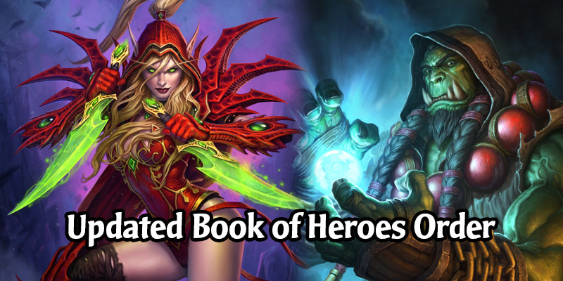 Blizzard Has Updated the Release Order of the Book of Heroes Chapters - Updated Datamined Release Order of All Heroes