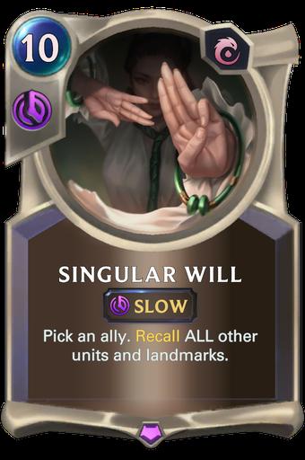 Singular Will Card Image