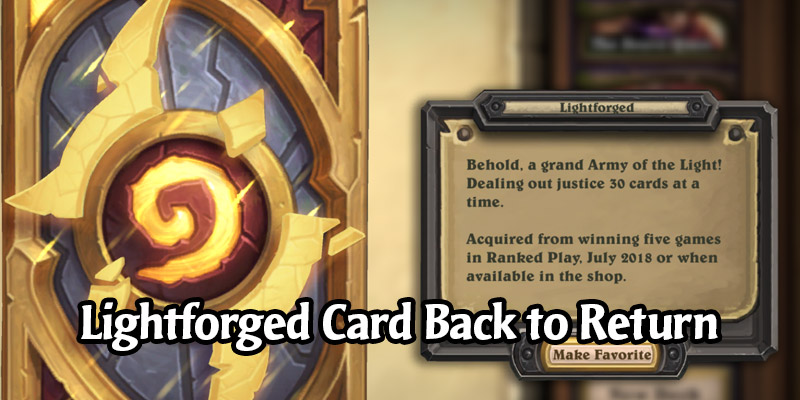 The Lightforged Card Back Returns to the In-Game Shop in the Future