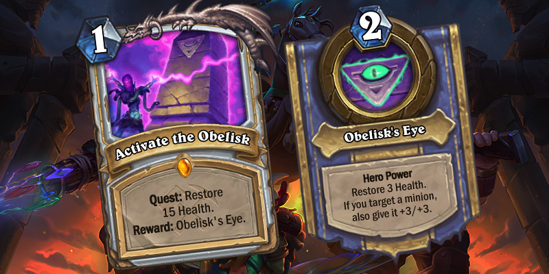 Uldum Priest Quest Reveal - Activate the Obelisk