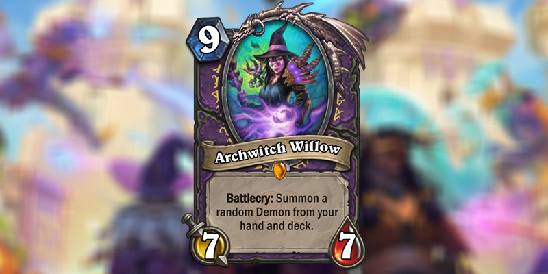 Archwitch Willow is a New Warlock Legendary Revealed for Hearthstone's Scholomance Academy Expansion