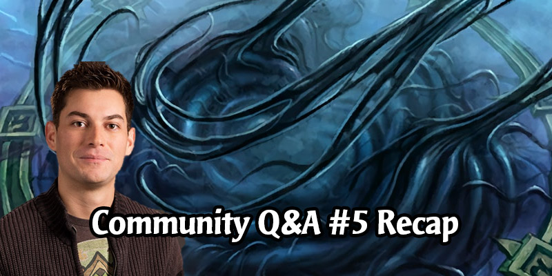 Dean Ayala's Community Q&A #5 - Core Set, Classic Arena, Upgrading to Golden Cards, Tauren Hero Portrait, Titans