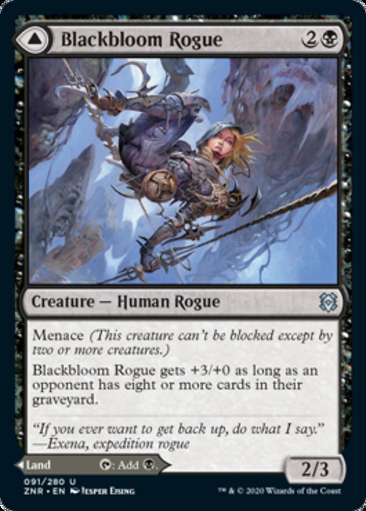Blackbloom Rogue // Blackbloom Bog Card Image
