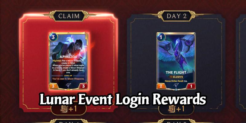 Legends of Runeterra Brings Us Lunar Login Rewards! Get a Free Aphelios and 13 New Cards