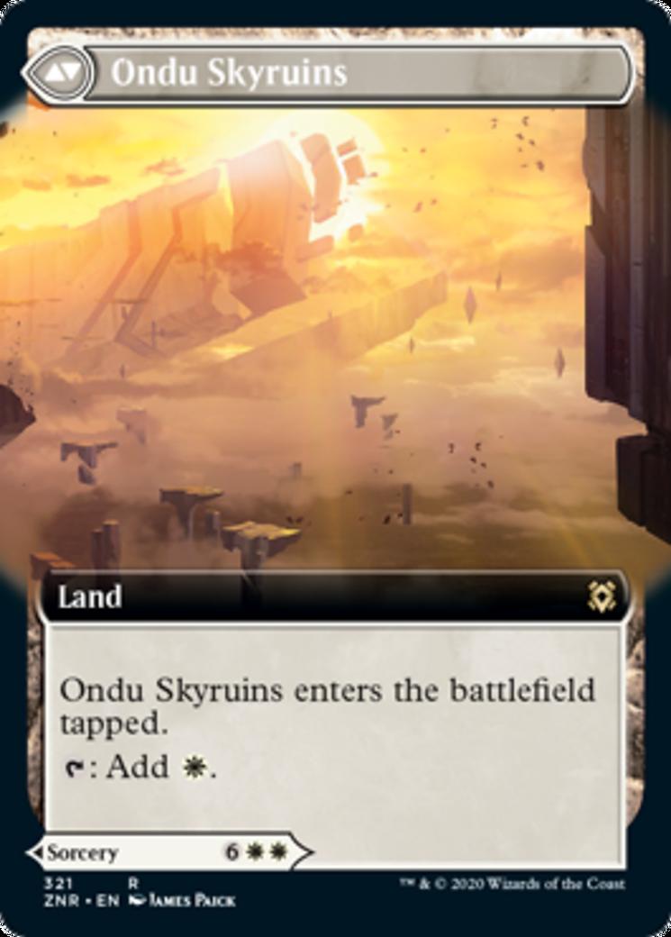 Ondu Inversion // Ondu Skyruins Card Image