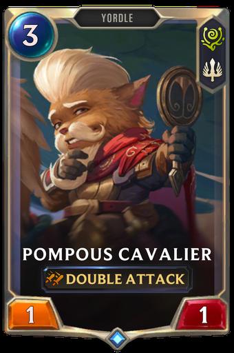 Pompous Cavalier Card Image