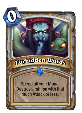 Forbidden Words Card Image
