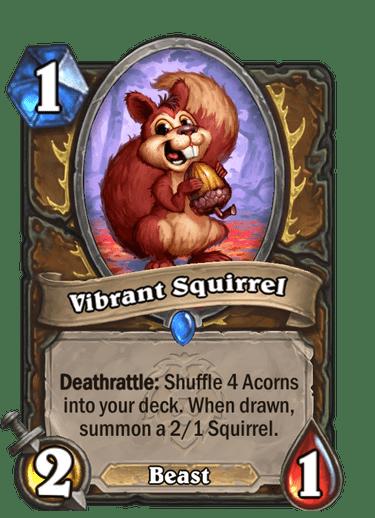 Vibrant Squirrel Card Image