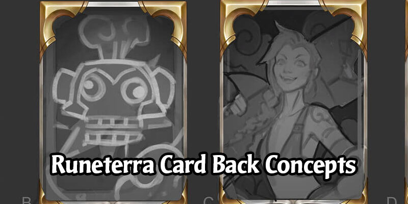 Legends of Runeterra Concept Art Spotlight - Card Backs