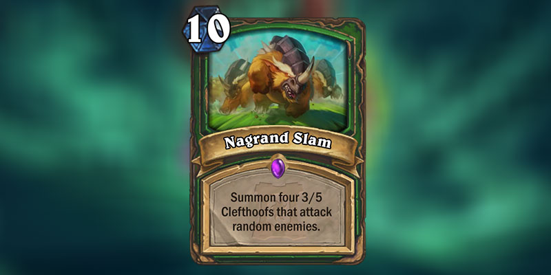 Nagrand Slam is a new Hunter Card Revealed for Hearthstone's Ashes of Outland Expansion