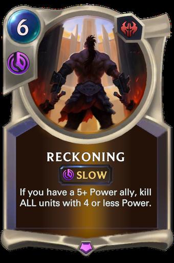 Reckoning Card Image