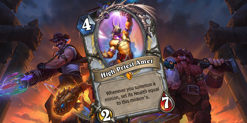 Uldum Priest Legendary Reveal - High Priest Amet
