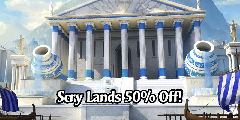 Scry Land Card Styles are 50% Off Today in MTG Arena