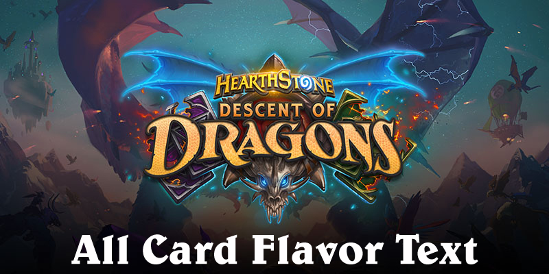 All Card Flavor Text for Descent of Dragons