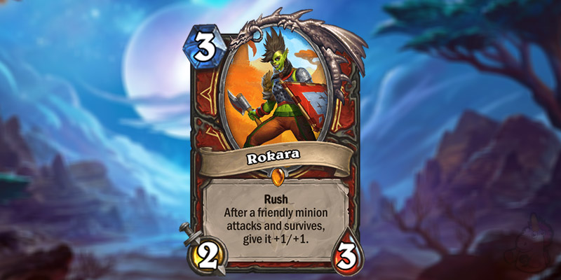 AmazingLP Reveals a New Forged in the Barrens Legendary Warrior Card - Rokara
